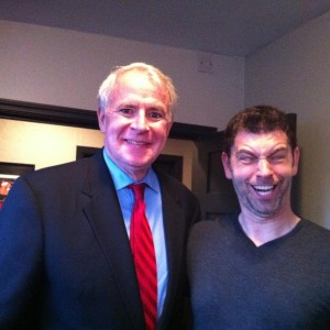 George's last trip to Milwaukee. That's Mayor of Milwaukee Tom Barrett, by the way.